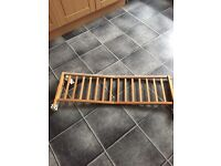 Wooden bed rail