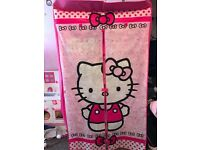 Hello kitty wardrobes with rail and storage space underneath