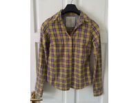 Next Women's Yellow Checked Shirt Size 8
