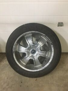 "20"" American racing rims with summer tires"