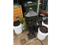 Cast iron free standing letterbox