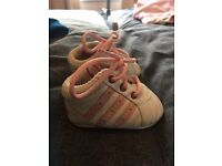 0-6 months baby girl adidas trainers.