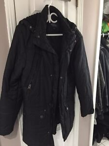 Retreat black men winter 3/4 coat parka