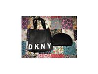 Bnwt DKNY Saffiano cosmetic bag