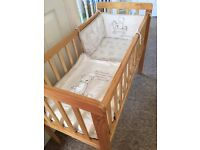 As new crib bedding