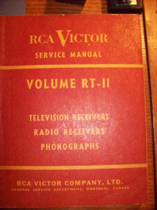 Vintage RCA Victor Service Manual Volume RT-11 London Ontario image 1