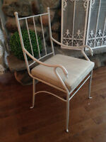 6 wrought iron vintage chairs / 6 chaises vintage en fer forger