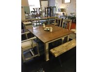 Up cycled kitchen table and chairs