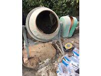 Cement mixer concrete mixer