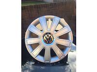 "VW 15"" SET OF 4 WHEEL TRIMS"