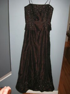 Prom dress Brown ankle length dress and bolero