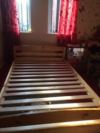Small 4ft Double Solid Pine Wood Bed Frame