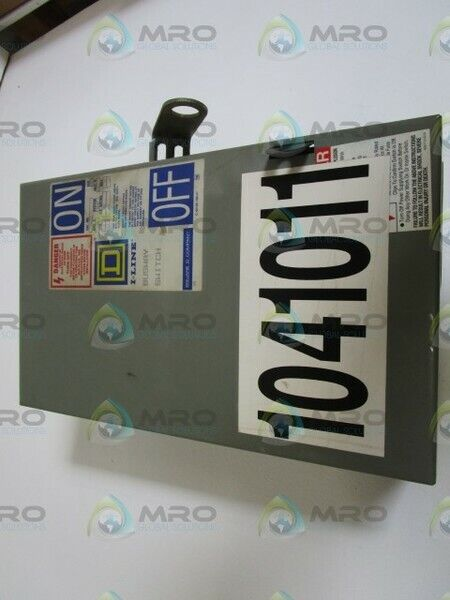 SQUARE D PQ4603G DISCONNECT SWITCH * USED *