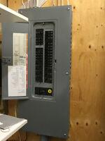 panneau électrique 120/240 incluant breaker, 200 ampères