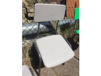 Grey Stacking School Chair Large