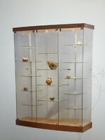 GLASS SHOWCASES, CABINETS, COUNTERS, DISPLAYS, CURIO