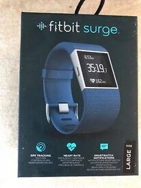 Fitbit Surge activity tracker, blue, large
