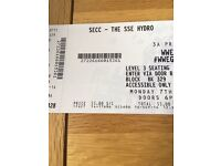 4x WWE raw SSE hydro tickets