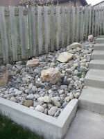 Patio stones and small decorative rocks to give away