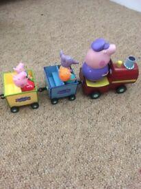 Grandads train Peppa Pig