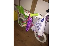 "GIRLS 12"" BIKE / BICYCLE WITH STABILISERS"