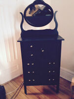 Commode antique chest dresser avec miroir