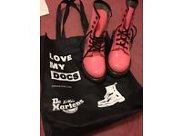 Dr Martens, bright pink, size 6