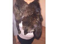 Stunning vintage fox fur stole
