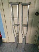 """Aluminum Crutches - 45"""""""