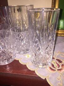 Set of 8 crystal glasses brand new