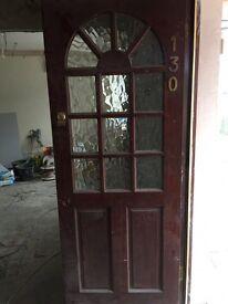 Hardwood main front door
