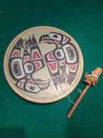 Fish Hawk drum by Clarence Wells