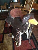 "16"" Western saddle package"