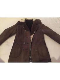 Vintage retro Antartex lambskin sheepskin jacket