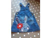 Denim Bunny Dress 12-18m