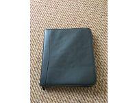Real leather folder case