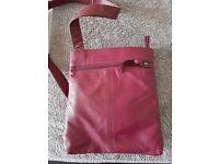 Next purple leather cross body bag