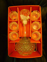 Lead Crystsl decanter and glasses