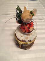 Christmas Mouse Jewelry Holder