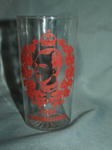 1937 Coronation water glass