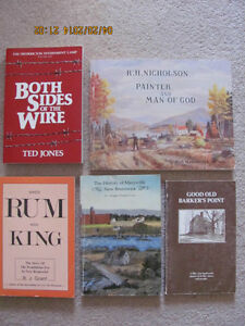 Rare and out of print New Brunswick books $20 and up