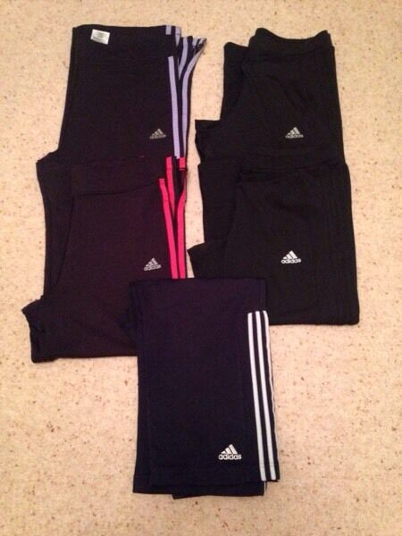 Sportswear Bottomsin Ingleby Barwick, County DurhamGumtree - Five pair of three quarter Adidas sportswear Lycra bottoms. Sizes 14 & 16. All excellent condition some never worn. From a smoke free and pet free home. £3.00 each
