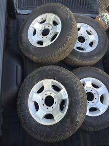 4 Michelin LTX tires Stock Ford rims