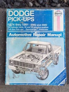 1974-1991 Dodge Truck Pickup Haynes Repair Manual