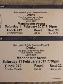 2 x seated tickets for Drake - Manchester sat 11th Feb
