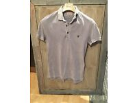All Saints light blue / grey polo. Muscle fit. Very good condition. Size medium.