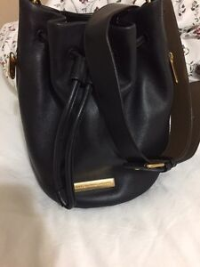 Marc by Marc Jacobs black leather bucket bag.