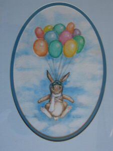 BEVERLY SNEATH ORIGINAL RABBIT WATERCOLOUR
