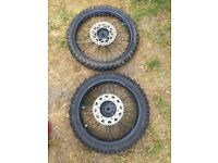 Yz125 Wheels ( damaged ) spares or repairs