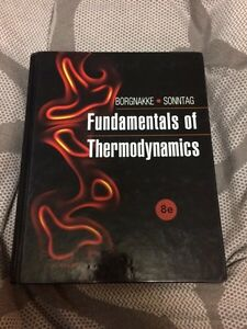 Fundamentals of thermodynamics 8ed